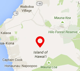 Map op Big Island - Private Homes Hawaii