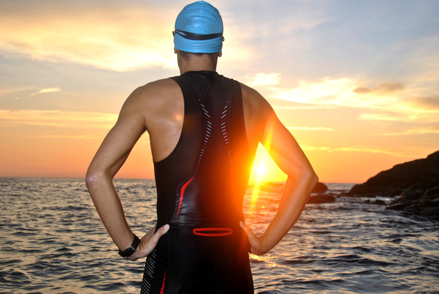 young athlete prepares for Ironman Hawaii 2018 Triathlon