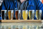 colorful flight of beer at one of the best oahu breweries