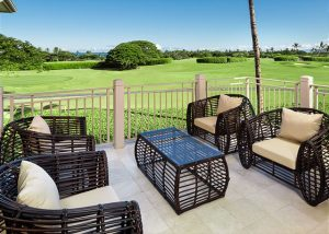 hualalai resort palm villa porch view