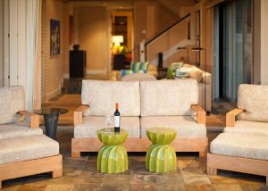 living room chairs in Big Island vacation rental