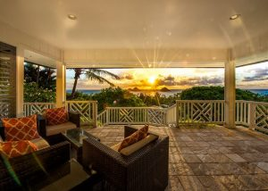 vacation rental porch with view