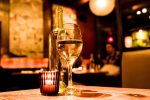 romantic restaurants oahu, glass of wine in intimate restaurant