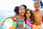 kids on beach, best hawaiian island for families